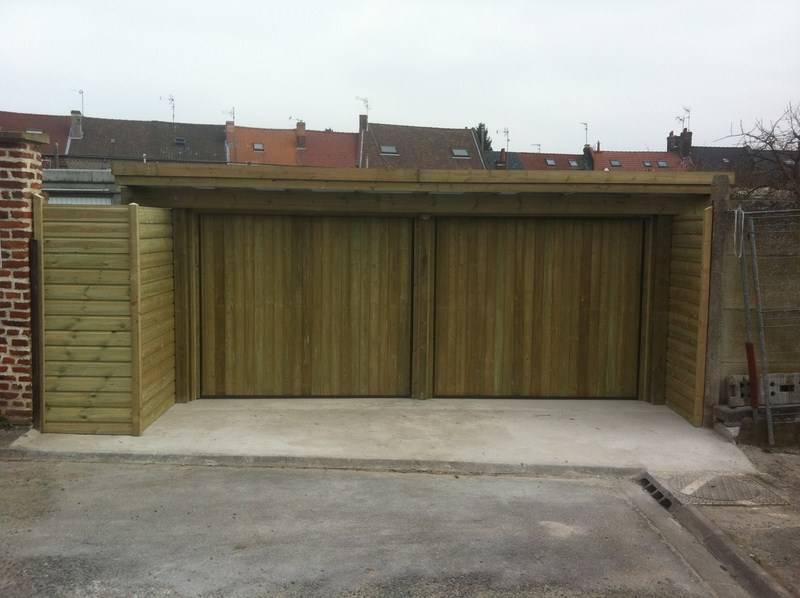 Entreprise construction extension garage maison ossature for Extension garage ossature bois